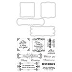 Kaisercraft - Decorative Dies and Clear Acrylic Stamps - Best Wishes