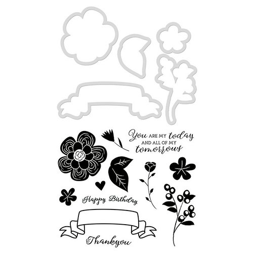 Kaisercraft - Decorative Dies and Clear Acrylic Stamps - Posie