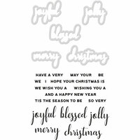 Kaisercraft - Decorative Dies and Clear Acrylic Stamps - Christmas Greetings