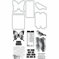 Kaisercraft - Decorative Dies and Clear Acrylic Stamps - Happy Life