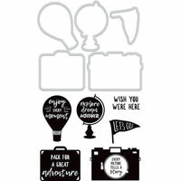 Kaisercraft - Decorative Dies and Clear Acrylic Stamps - Wish You Were Here