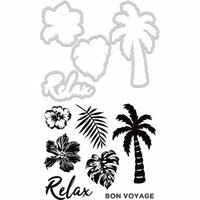 Kaisercraft - Decorative Dies and Clear Acrylic Stamps - Relax