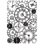Kaisercraft - 4 x 6 Embossing Folder - Clocks