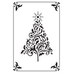 Kaisercraft - 4 x 6 Embossing Folder - Framed Christmas Tree