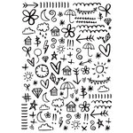 Kaisercraft - 4 x 6 Embossing Folder - Doodles