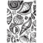 Kaisercraft - 4 x 6 Embossing Folder - Sea Shells