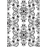 Kaisercraft - 4 x 6 Embossing Folder - Ornate Flourish Plate
