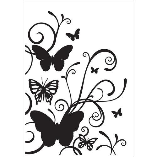 Kaisercraft - 4 x 6 Embossing Folder - Butterfly Flourish