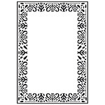 Kaisercraft - 4 x 6 Embossing Folder - Decorative Frame