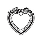 Kaisercraft - 4 x 6 Embossing Folder - Heart Frame