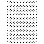 Kaisercraft - 4 x 6 Embossing Folder - Tiny Hearts