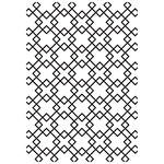 Kaisercraft - 4 x 6 Embossing Folder - Diamond Tiles