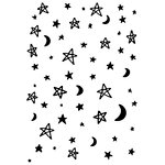 Kaisercraft - 4 x 6 Embossing Folder - Moon and Stars