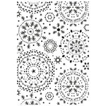 Kaisercraft - 4 x 6 Embossing Folder - Snowflakes