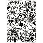 Kaisercraft - 4 x 6 Embossing Folder - Poinsettia