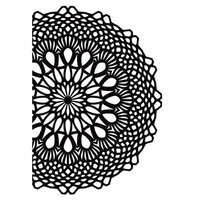 Kaisercraft - 4 x 6 Embossing Folder - Crochet Doily