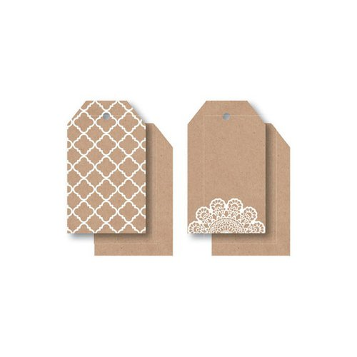 Kaisercraft - Mix and Match Collection - Tags - Lacy