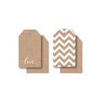 Kaisercraft - Mix and Match Collection - Tags - Chevron