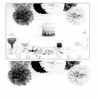 Kaisercraft - Pop Collection - Tissue Paper Pom Poms - Marshmallow - 3 Pack