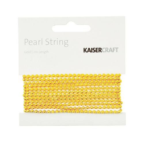 Kaisercraft - Pearl String - Gold - 6.5 Feet