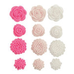 Kaisercraft - Blossoms - Resin Flowers - Fuchsia