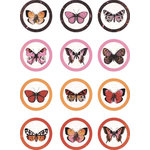 Kaisercraft - Tigerlilly Collection - Stickers - Envelope Seals with Foil Accents