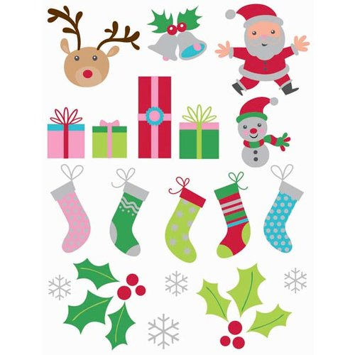 Kaisercraft - Mint Twist Collection - Christmas - Epoxy Stickers