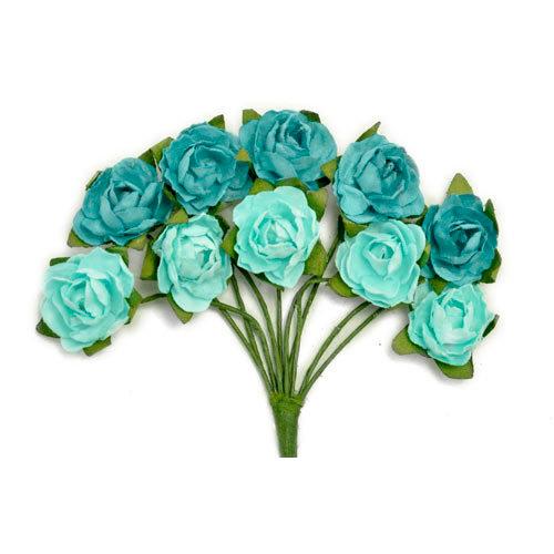 Kaisercraft - Paper Blooms - Mini - Flowers - Sea Breeze