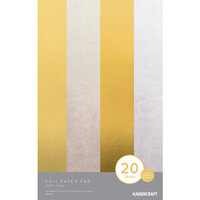 Kaisercraft - 5 x 8 Foil Paper Pad - Gold and Silver - 20 sheets