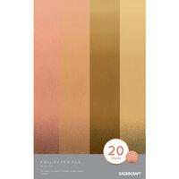 Kaisercraft - 5 x 8 Foil Paper Pad - Bronze - 20 sheets