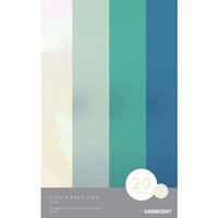 Kaisercraft - 5 x 8 Foil Paper Pad - Frost - 20 sheets
