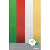 Kaisercraft - Christmas - 5 x 8 Foil Paper Pad - Festive - 20 sheets