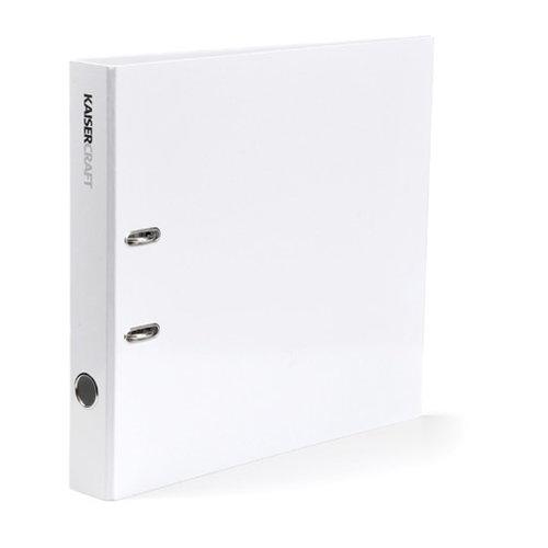 Kaisercraft - Paper and Layout Storage Folder Binder - White - 12 x 12