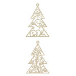 Kaisercraft - Baubles - Die Cut Wood Pieces - Hanging Flourish Tree