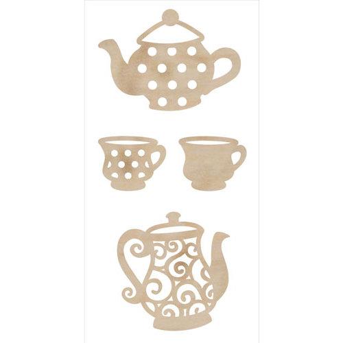 Kaisercraft - Flourishes - Die Cut Wood Pieces - Tea Party