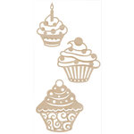 Kaisercraft - Flourishes - Die Cut Wood Pieces - Cupcakes