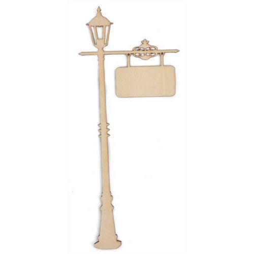 Kaisercraft - Flourishes - Die Cut Wood Pieces - Lamp Post