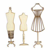 Kaisercraft - Flourishes - Die Cut Wood Pieces - Manequins