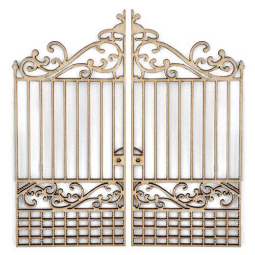 Kaisercraft - Flourishes - Die Cut Wood Pieces - Iron Gate
