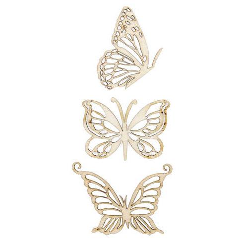 Kaisercraft - Flourishes - Die Cut Wood Pieces - Magical Butterflies