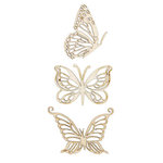 Kaisercraft - Flourishes - Die Cut Wood Pieces - Magical Butterflies