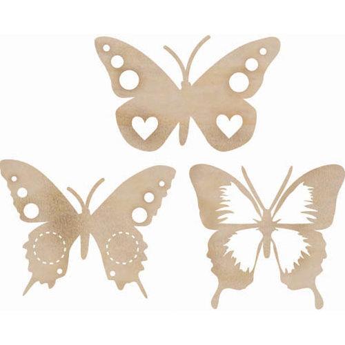 Kaisercraft - Flourishes - Die Cut Wood Pieces - Funky Butterflies