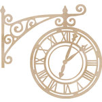 Kaisercraft - Flourishes - Die Cut Wood Pieces - Ornate Clock