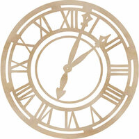 Kaisercraft - Flourishes - Die Cut Wood Pieces - Roman Clock Face