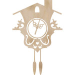 Kaisercraft - Flourishes - Die Cut Wood Pieces - Cuckoo Clock