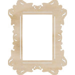 Kaisercraft - Flourishes - Die Cut Wood Pieces - Rectangle Ornate Frame