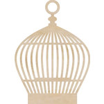 Kaisercraft - Flourishes - Die Cut Wood Pieces - Round Birdcage