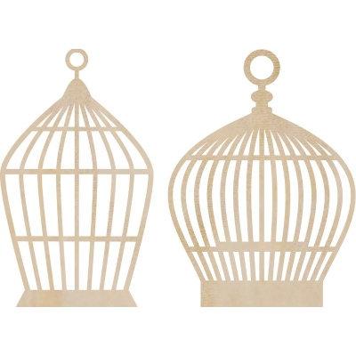 Kaisercraft - Flourishes - Die Cut Wood Pieces - Small Birdcages