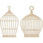 Kaisercraft - Flourishes - Die Cut Wood Pieces - Small Birdcages