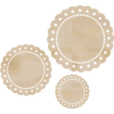 Kaisercraft - Flourishes - Die Cut Wood Pieces - Scallop Doilies